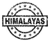 Verkratztes strukturiertes HIMALAJA Stempelsiegel vektor abbildung
