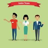 Verkäufe Team People Group Flat Style Lizenzfreies Stockbild