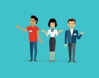 Verkäufe Team People Group Flat Style Lizenzfreie Stockfotos