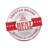 Verlässliche Marke Verkaufsschlager - glänzende Ikone/Aufkleber/Ausweis Lizenzfreie Stockfotografie