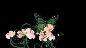 verlässt üppiges Blumenblumenblatt des Schmetterlinges 4k Ernten Sträuche Buschbetriebsgraswachsen lizenzfreie abbildung