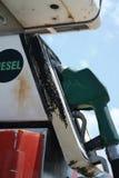 Verlaat Benzinestation Stock Foto