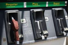 Verlaat Benzinestation Stock Foto's