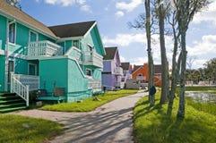Verlaat Flatgebouwen met koopflats Royalty-vrije Stock Foto