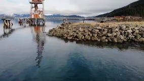 Verlaat industriële plaats in Alaska