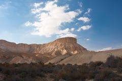 Verlaat landschap, Negev, Israël Stock Afbeelding