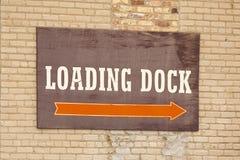 Verladedock-Zeichen Lizenzfreies Stockfoto