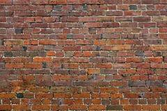 Verlagings rode bakstenen muur Stock Foto