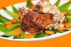 Verlangsamen Sie gebratenes Schweinefleisch stockfoto