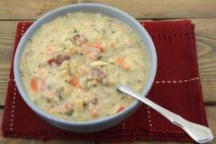 Verlangsamen Sie gekochte Sahnesuppe stockfotografie