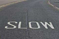 Verlangsamen Sie Ihre Geschwindigkeit Lizenzfreies Stockbild