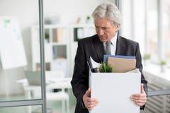 Verlassen des Arbeitsplatzes lizenzfreie stockbilder
