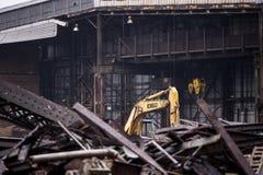 Verlassen setzen Sie vereinigte Fabrik - Youngstown, Ohio ab stockbilder