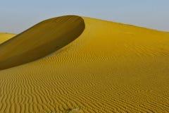 Verlassen Sie Dünen in den Saudi-Arabien Sand-Hügeln ohne Leute kein Leben stockbilder