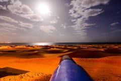 Verlassen Sie mit Sanddünen in Gran Canaria Spanien Stockbilder