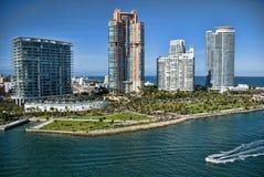 Verlassen von Miami, Florida stockbilder