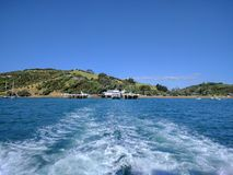 Verlassen von waiheke Insel Lizenzfreies Stockfoto