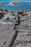 Verlassene Abwasserleitungslinie Lizenzfreie Stockfotos