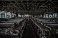 Verlassene Abwasserreinigungsaufbereitungsanlagen lizenzfreie stockfotos