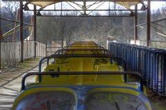 Verlassene alte Achterbahn Stockbilder