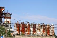 Verlassene alte rostige Fabrik Timisoara der Industriezone Lizenzfreies Stockbild