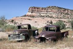 Verlassene Autos Lizenzfreies Stockfoto