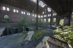 Verlassene Bergwerkgebäude in Belgien Stockfotografie