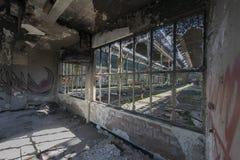 Verlassene Bergwerkgebäude in Belgien Stockfoto