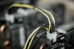 Verlassene bitcoin Bergwerksausrüstung lizenzfreie stockfotografie