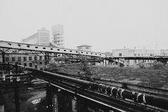 Verlassene bombardierte-heraus Stadt Stockbild
