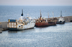 Verlassene Boote stockfotografie