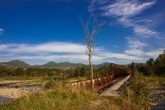 Verlassene Brücke Stockfotos