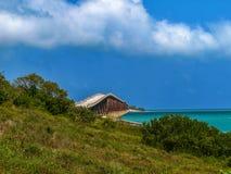 Verlassene Brücke in Key West, Florida lizenzfreie stockbilder