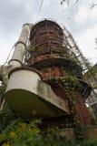 Verlassene chemische Fabrik Stockfoto