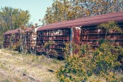 Verlassene Eisenbahnautos lizenzfreie stockfotografie
