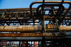 Verlassene Eisenfabrik Stockfoto