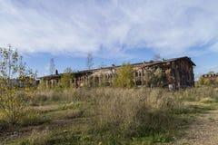 Verlassene Fabrik, ein Symbol der Wirtschaftskrise Lizenzfreie Stockbilder