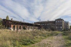 Verlassene Fabrik, ein Symbol der Wirtschaftskrise Stockbilder