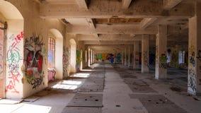 Verlassene Fabrik - Mühle stockfoto
