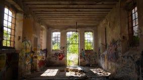 Verlassene Fabrik - Mühle stockfotografie