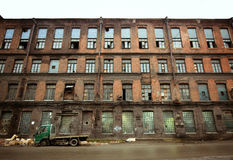 Verlassene Fabrik, St Petersburg Stockfotos