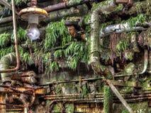 Verlassene Fabrik-Wand Lizenzfreie Stockbilder