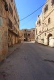 Verlassene Gebäude, Straße Emek Hebron Stockfoto