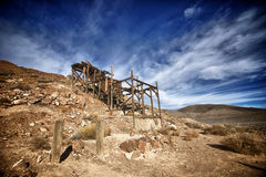 Verlassene Goldmine in Death Valley Stockbild