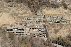 Verlassene Häuser Stockbild