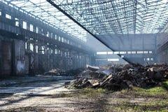 Verlassene Halle Stockfoto