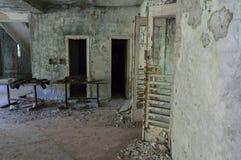 Verlassene Halle in Tschornobyl Stockfotos