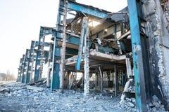 Verlassene Industriegebäude Stockfotos