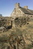 Verlassene Kate von Ostern Crannich auf Dava Moor in Schottland stockfoto