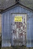 Verlassene Kate von Ostern Crannich auf Dava Moor in Schottland stockfotografie
